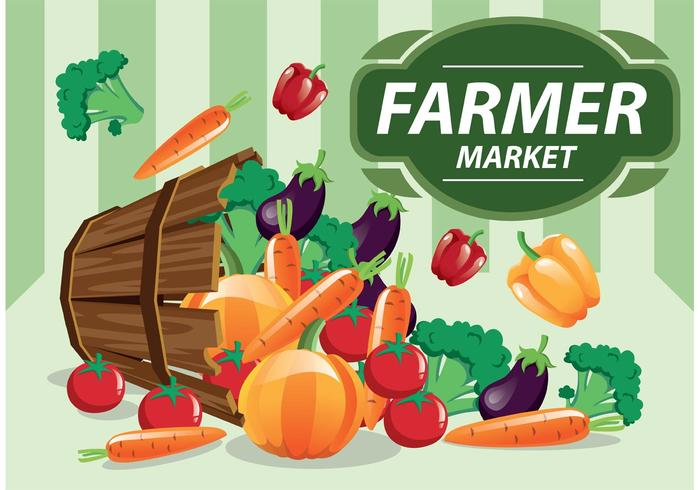 Farmers Market Vector Produce