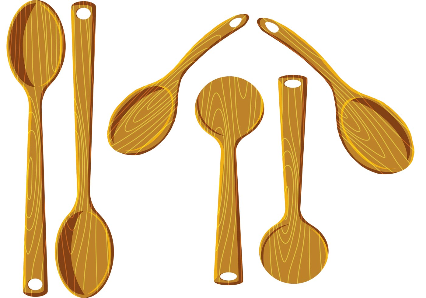 Wood Spoon Vectors - Download Free Vector Art, Stock Graphics & Images