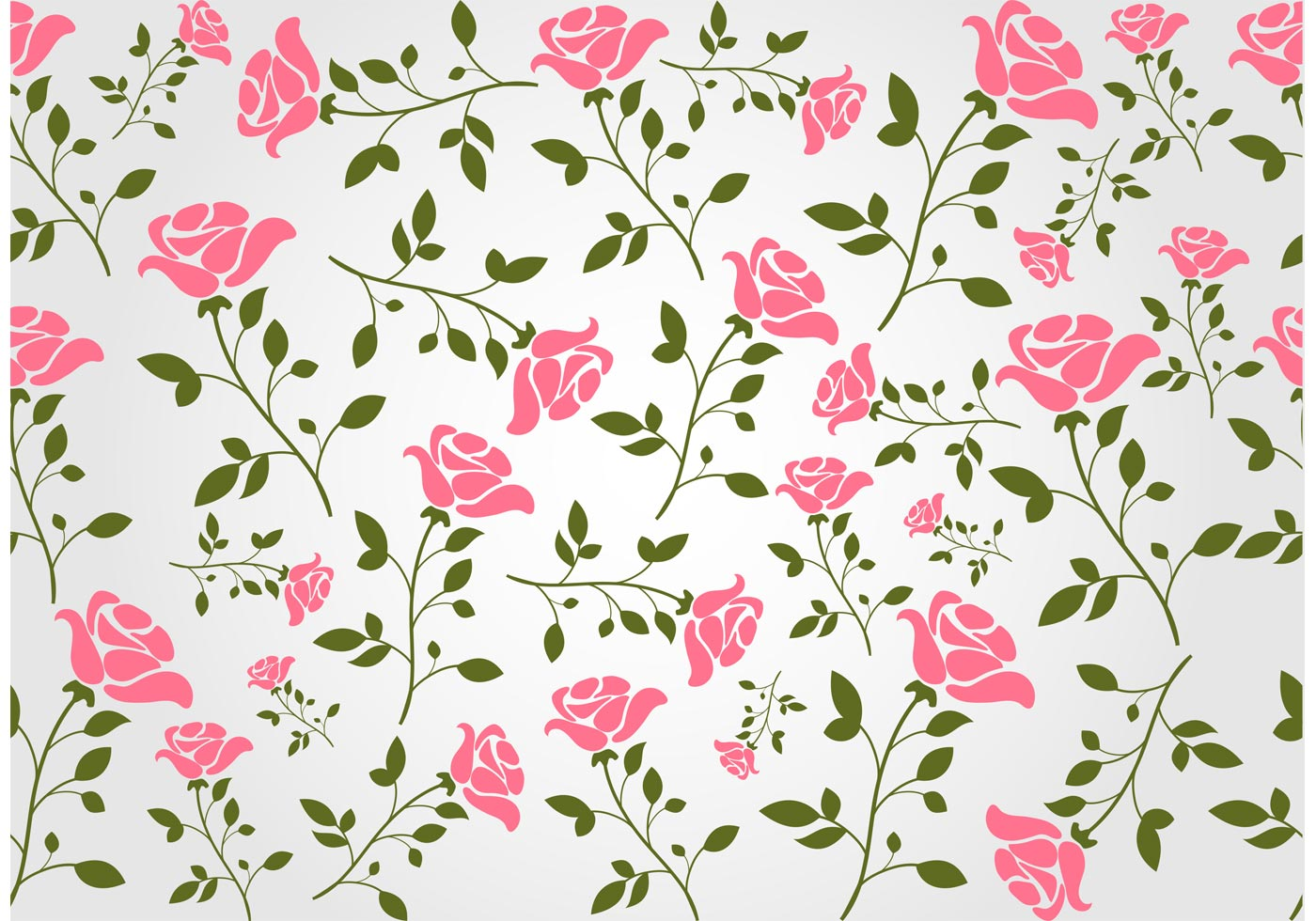 Seamless Floral Vector Background - Download Free Vector ...