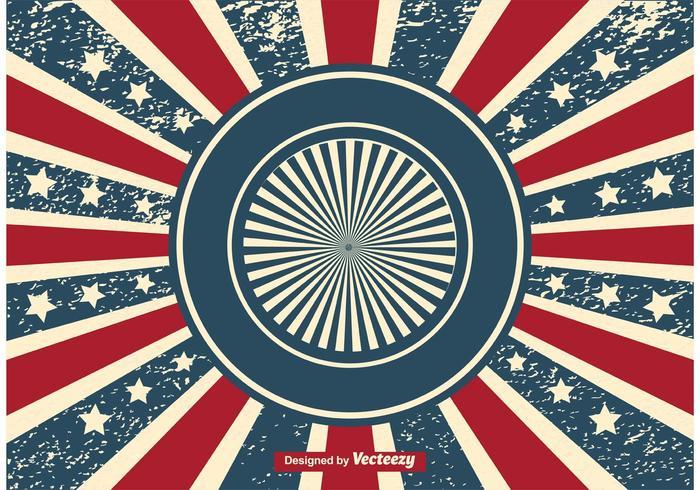 Patriotic Sunburst Grunge Background