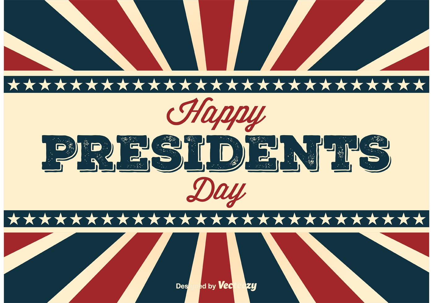 retro presidents day poster vector