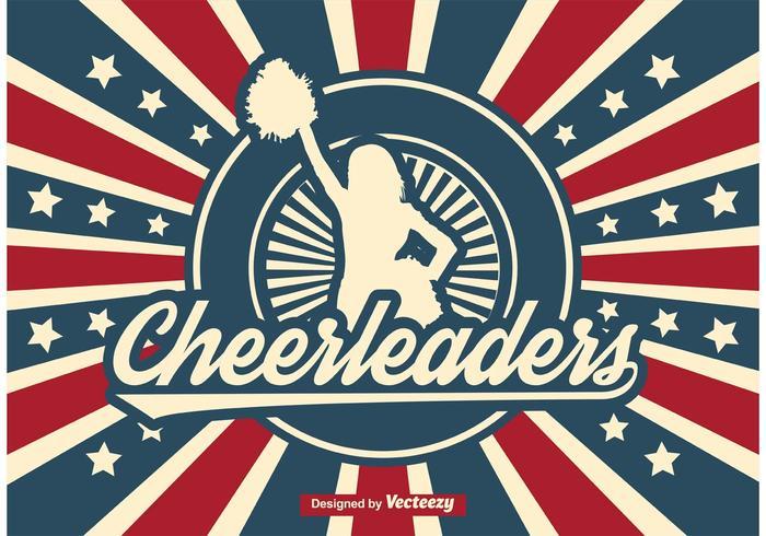 Retro Cheerleader Ilustración