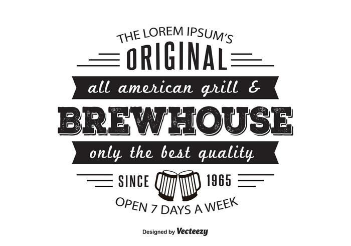 Brewhouse Griil Logo Template