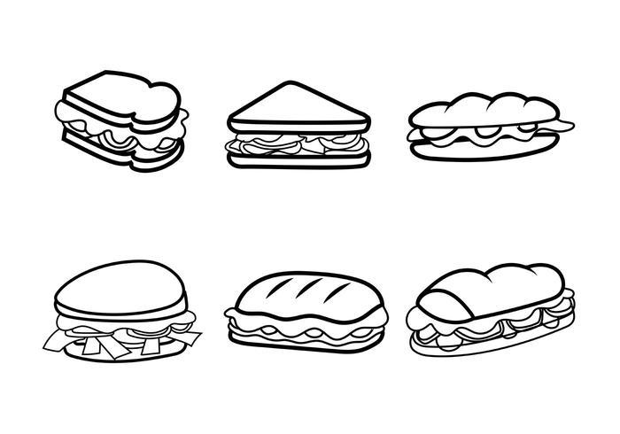 Free Vector Club Sandwiches