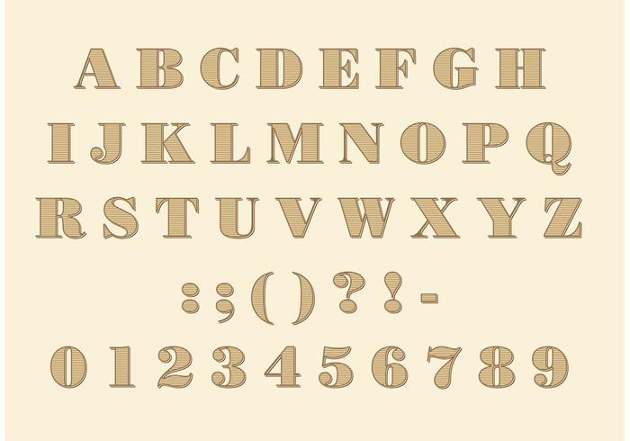Didone Font Vector