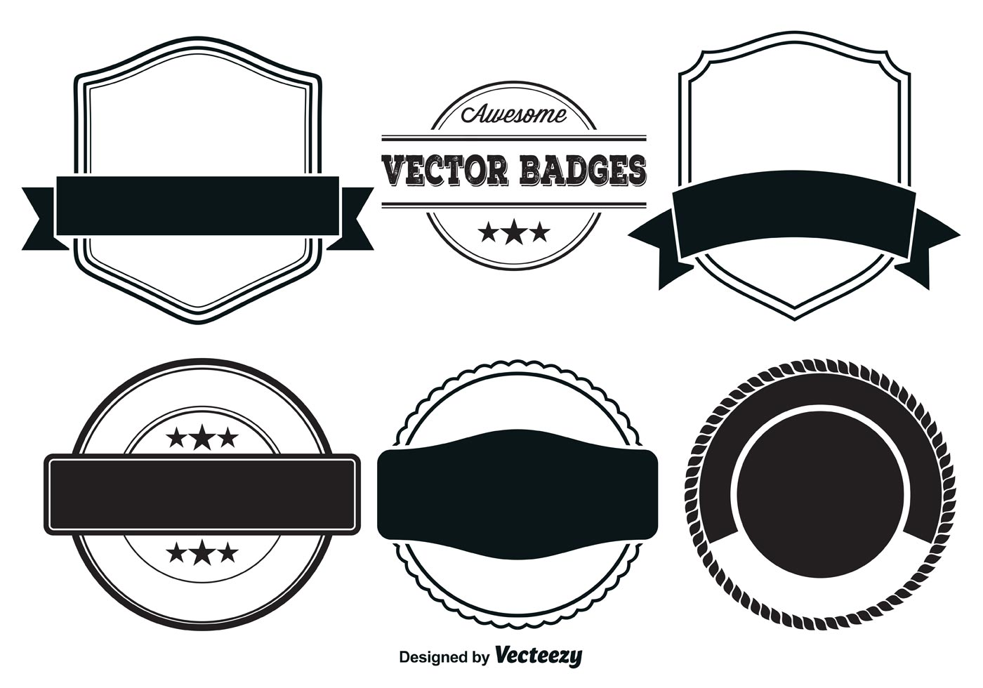 Vector Badge Templates - Download Free Vector Art, Stock ... Vintage Shape Template