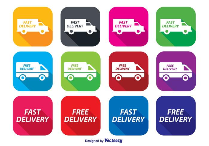 Fast Delivery Icon Set