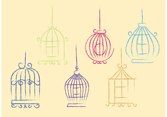 Free Sketchy Vector Bird Cage