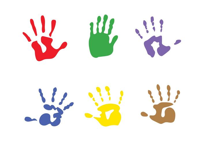 Vector Child Handprints