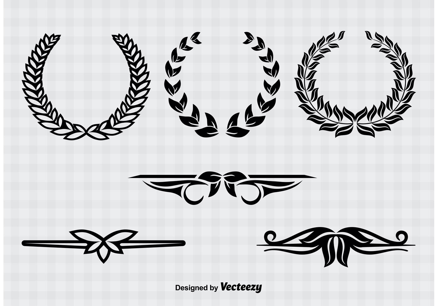 wreaths and text divider vectors download free vector