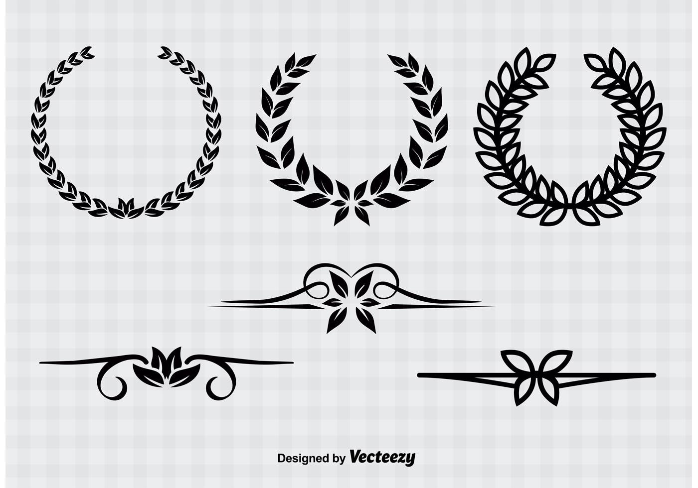 vintage wreaths amp dividers download free vector art