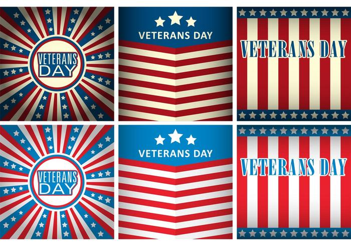 Plantillas del vector del día de veteranos
