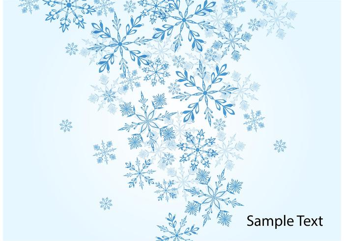 Winter Snowflake Vector Background