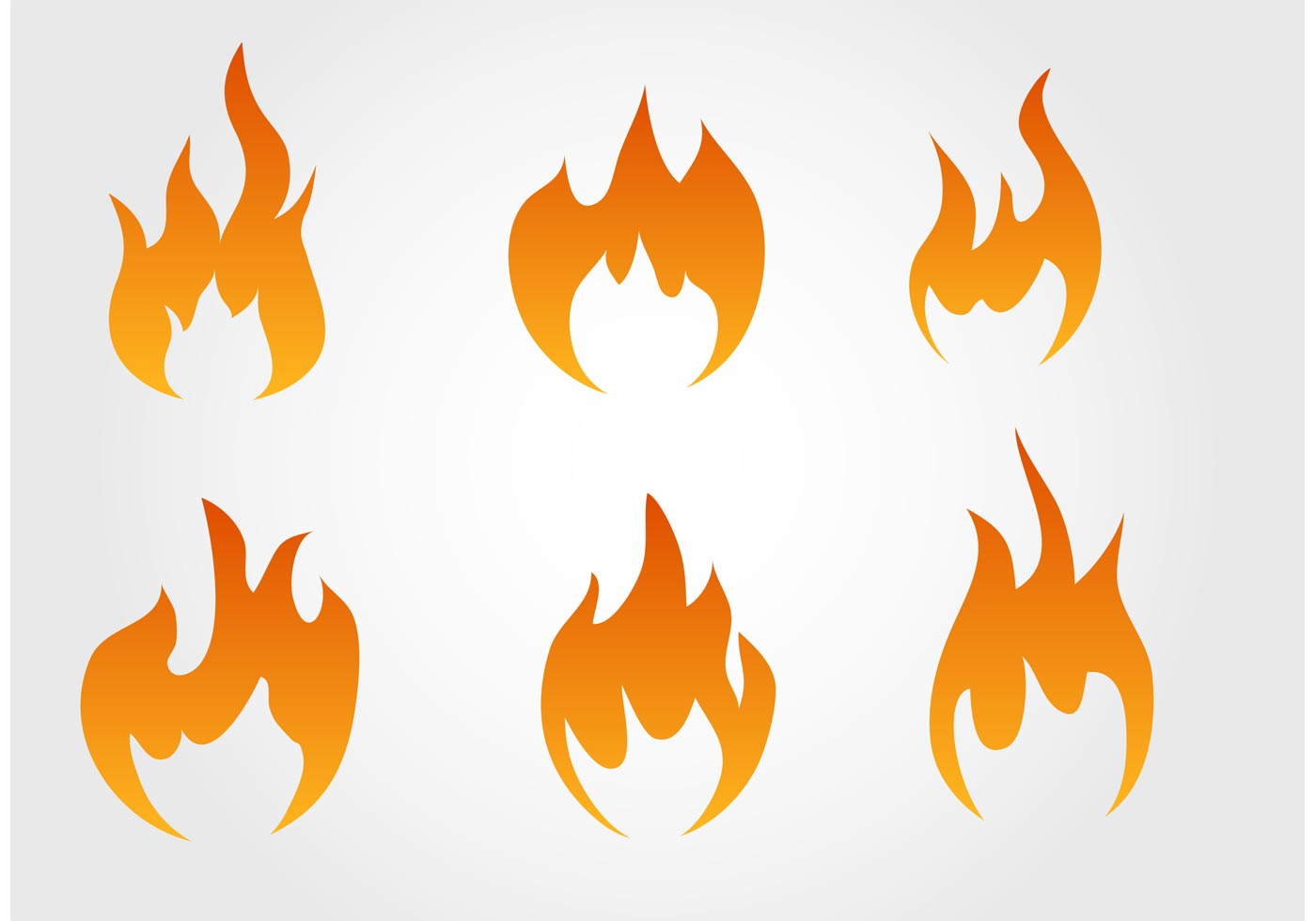 Collection Of Fire Vectors