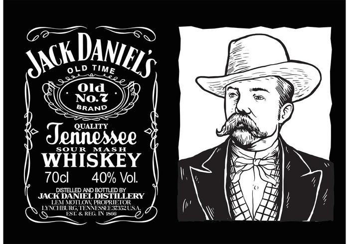 Jack Daniels Vector Label