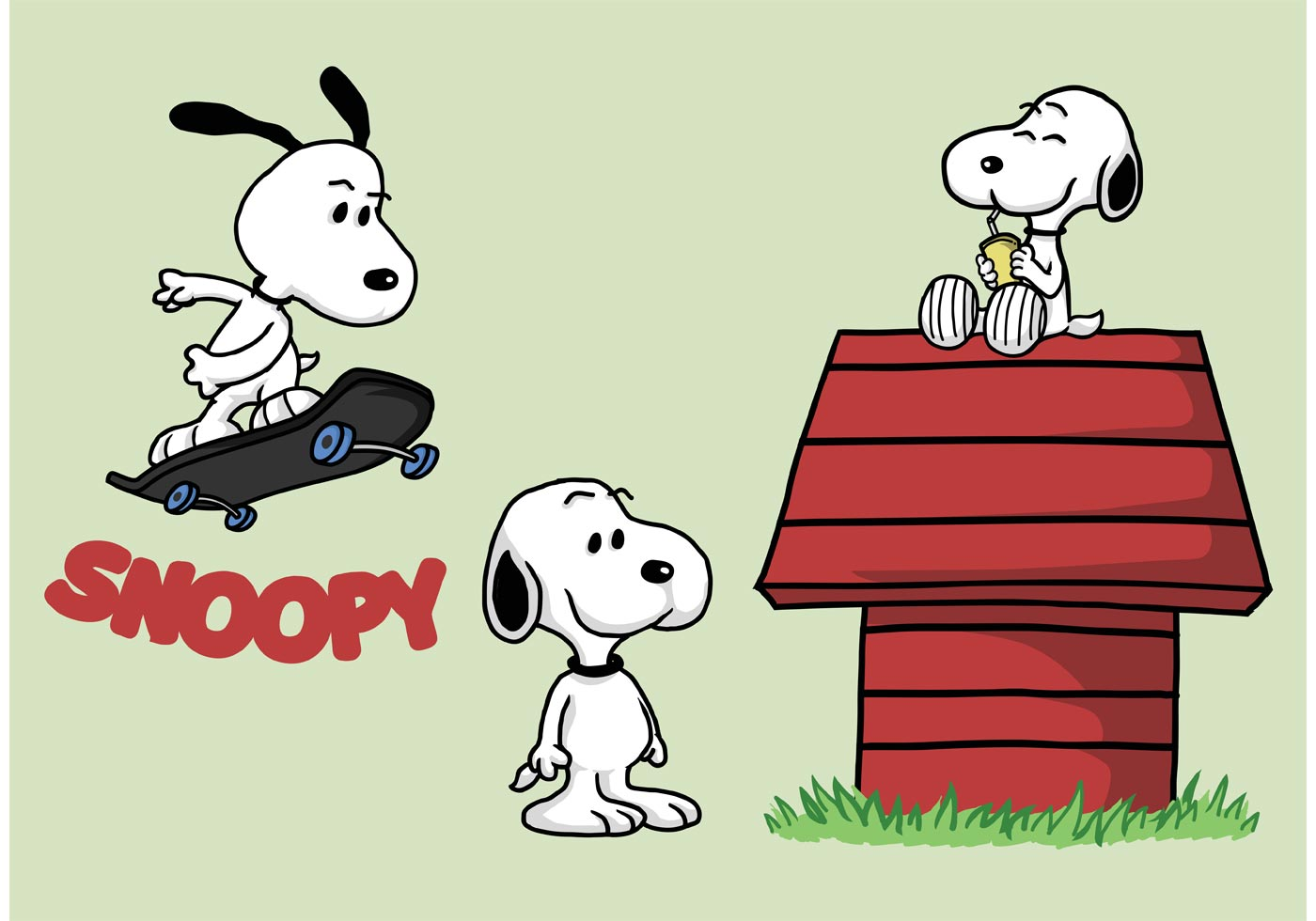 Snoopy Dog Free Vector Art 5 Free Downloads