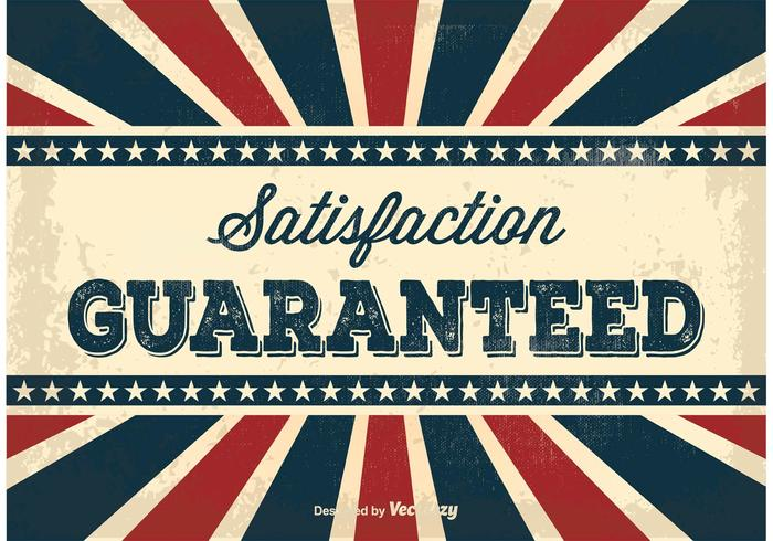 Old Vintage Satisfaction Guaranteed Illustration vector