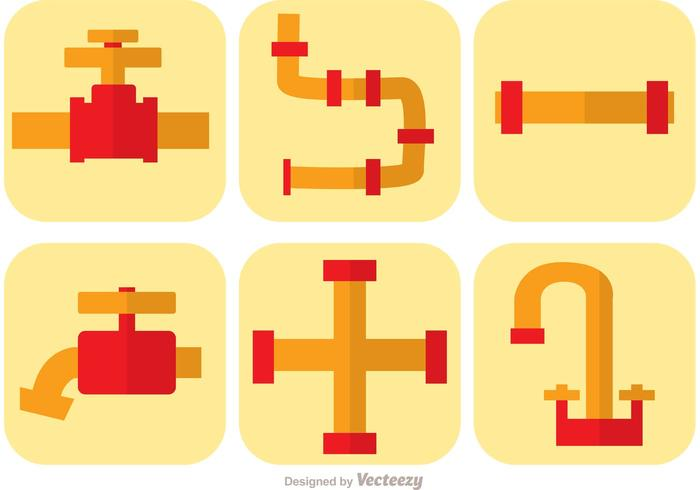 Sewer Pipe Icons Vector
