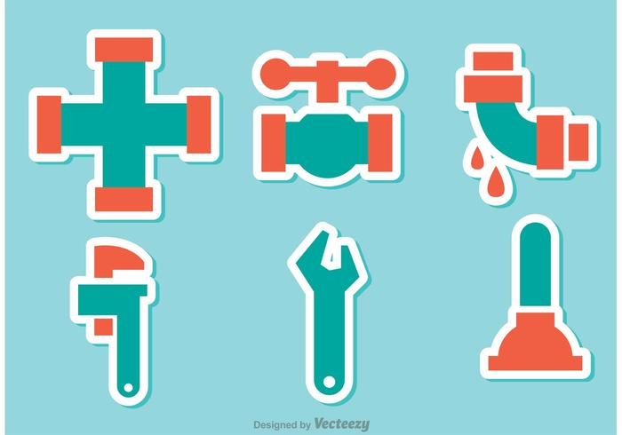 Sewer Pipe Sticker Vectors