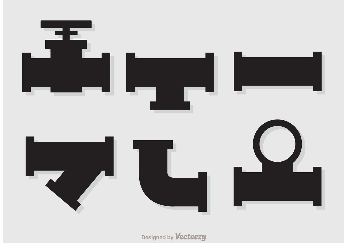 Silhouette Sewer Pipeline Vectors Download Free Vector