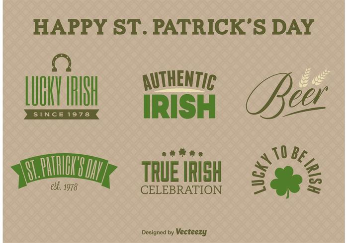 St. Patrick's Day Label Vectoren