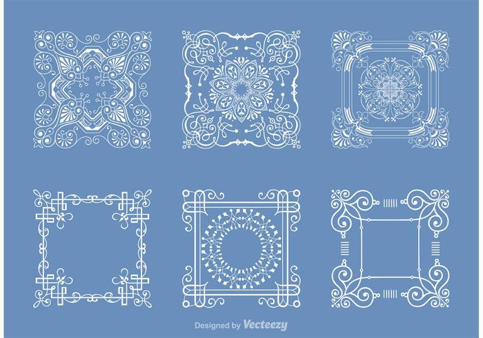 Free Square Doily Vector Pack