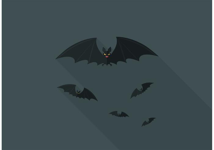 Gratis Flying Foxes Vector