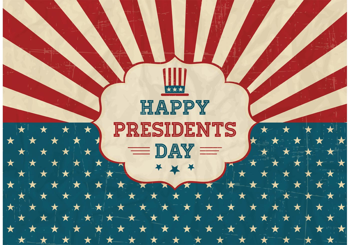 Free Happy Presidents Day Retro Vector Poster - Download ...