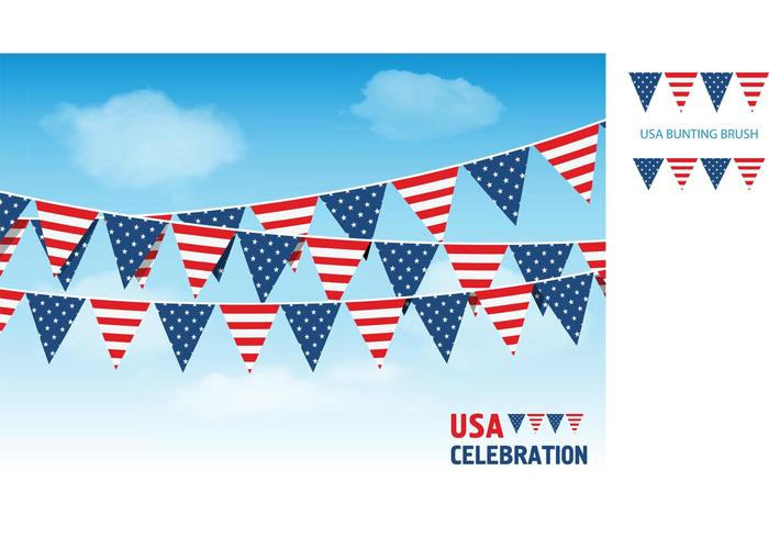 USA Vector Bunting Flags