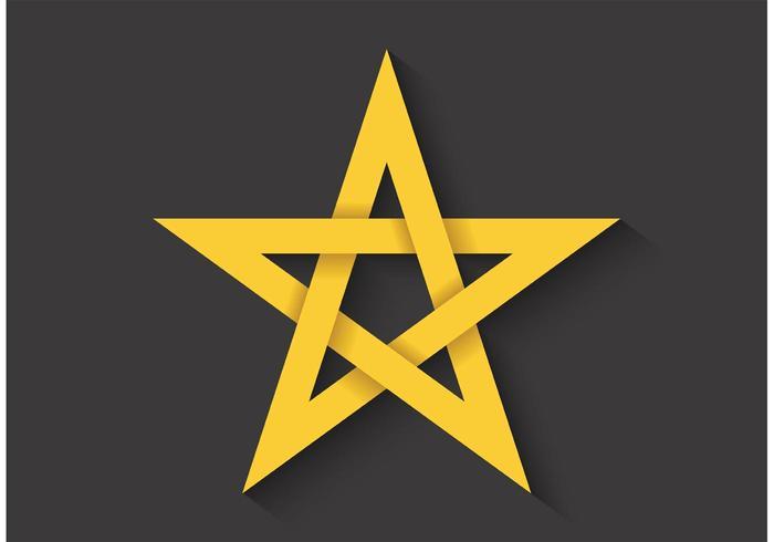 Free Vector Golden Ratio Pentagram