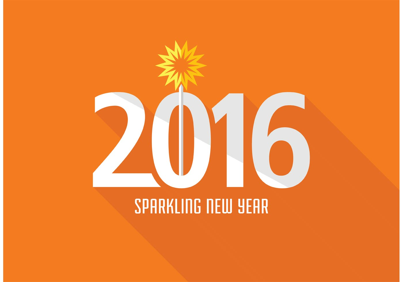 Free Creative New Year 2016 Vector Design - Download Free ...