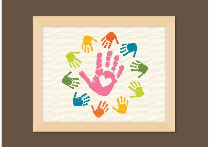 Free Vector Child Handprints