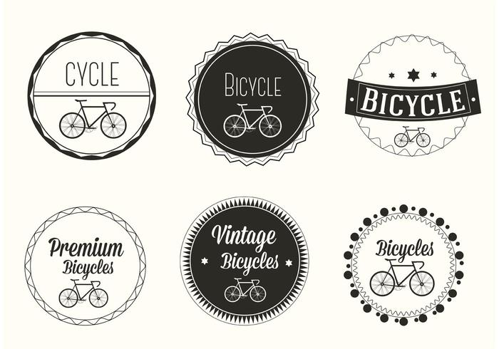 Free Vector Bicycle Labels