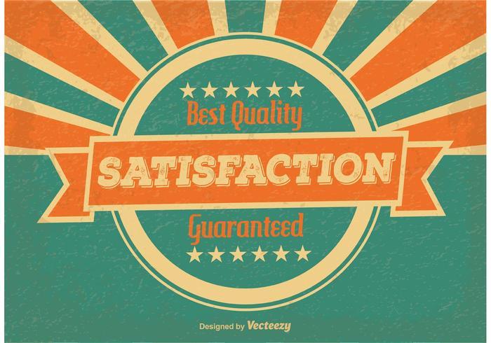 Vintage Satisfaction Guaranteed Illustration