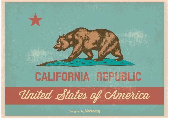 Bandeira de Califórnia do estilo do vintage