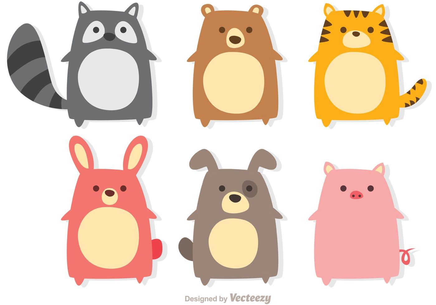 Cute Animals Vectors - Download Free Vectors, Clipart ...