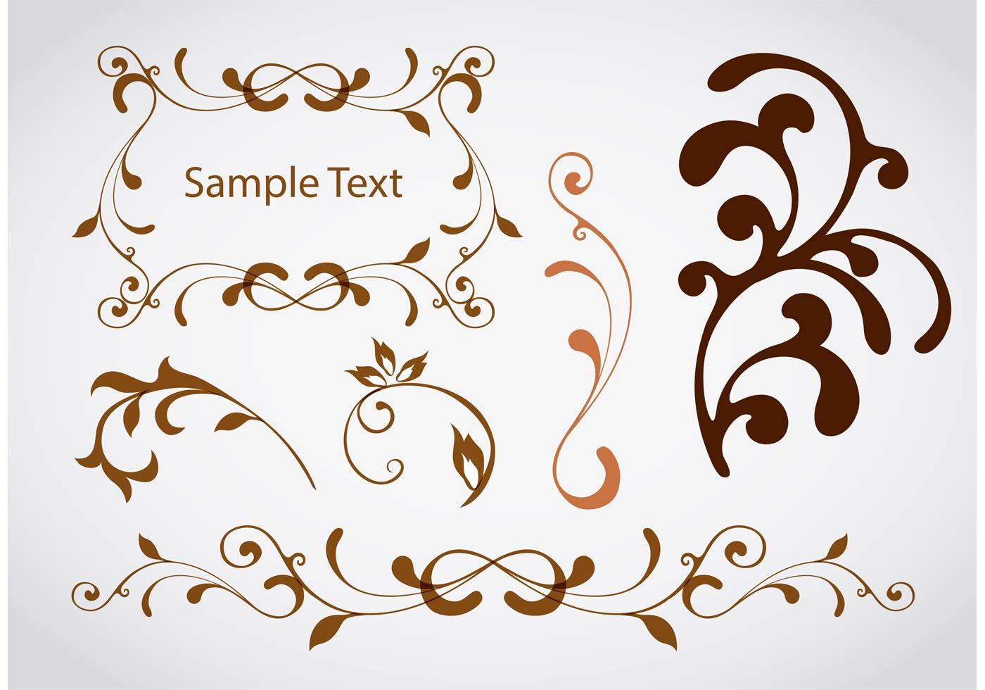 design swirl vector elements download free vector art stock graphics images. Black Bedroom Furniture Sets. Home Design Ideas