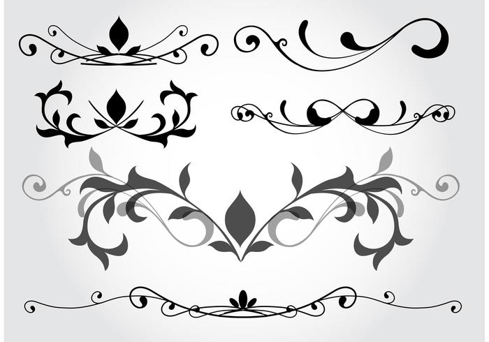 Elementos vetoriais de design floral