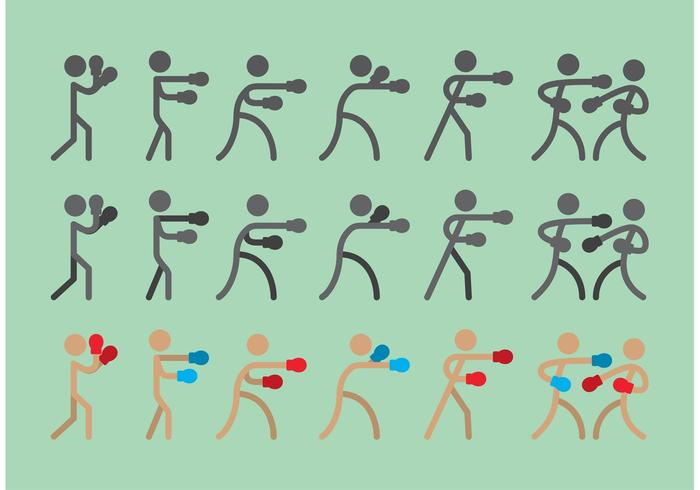 Boxer Sitck Abbildung Icon Vektoren