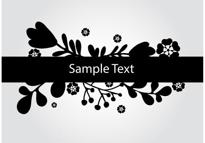 Bloemen vector banner