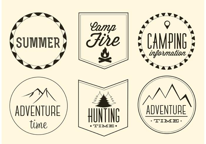 Free Vector Adventure Labels Set