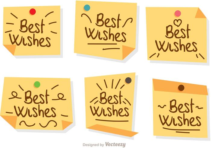 Best Wishes Notes Vectors