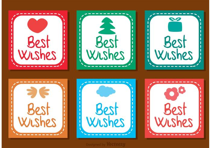 Best Wishes Square Ikoner Vector