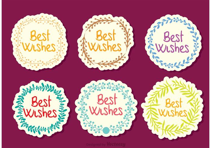 Best Wishes Wreath Vectors