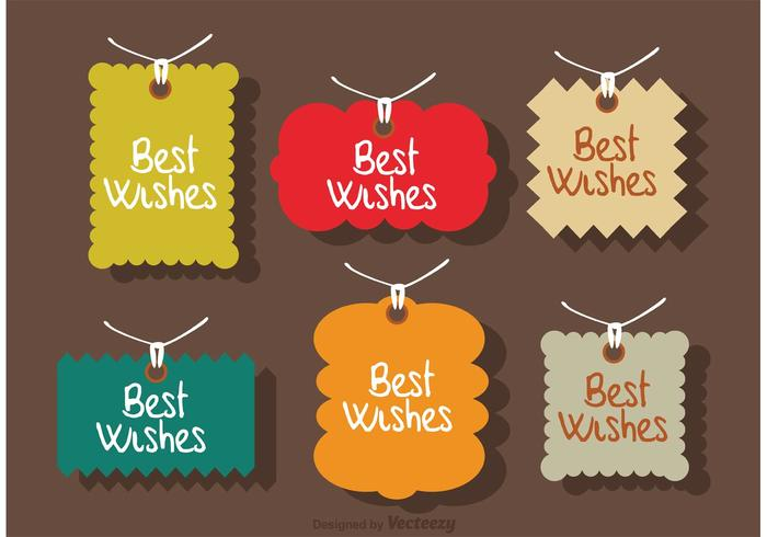 Best Wishes Labels Vector