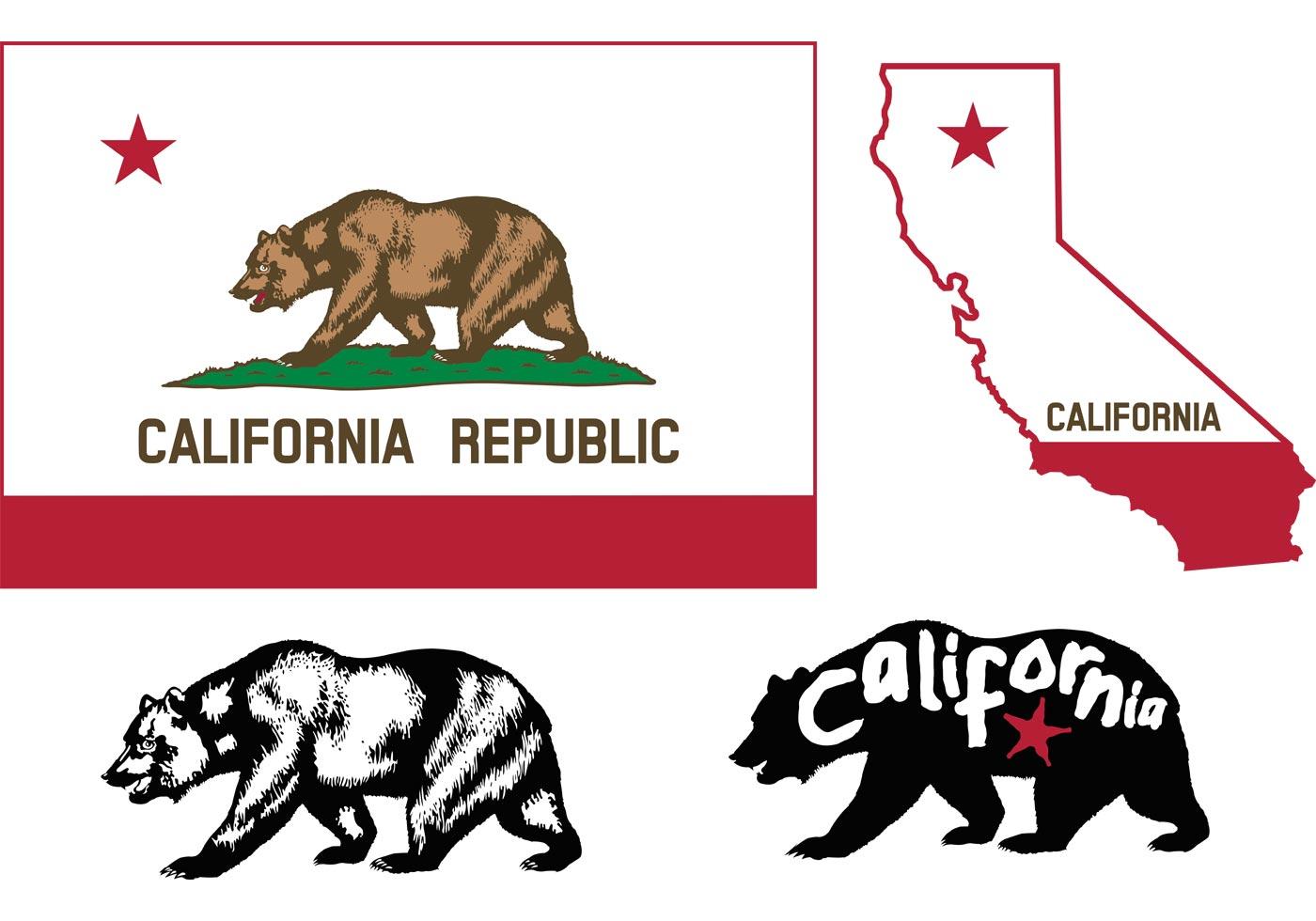 California Bear Flag Vectors Download Free Vector Art
