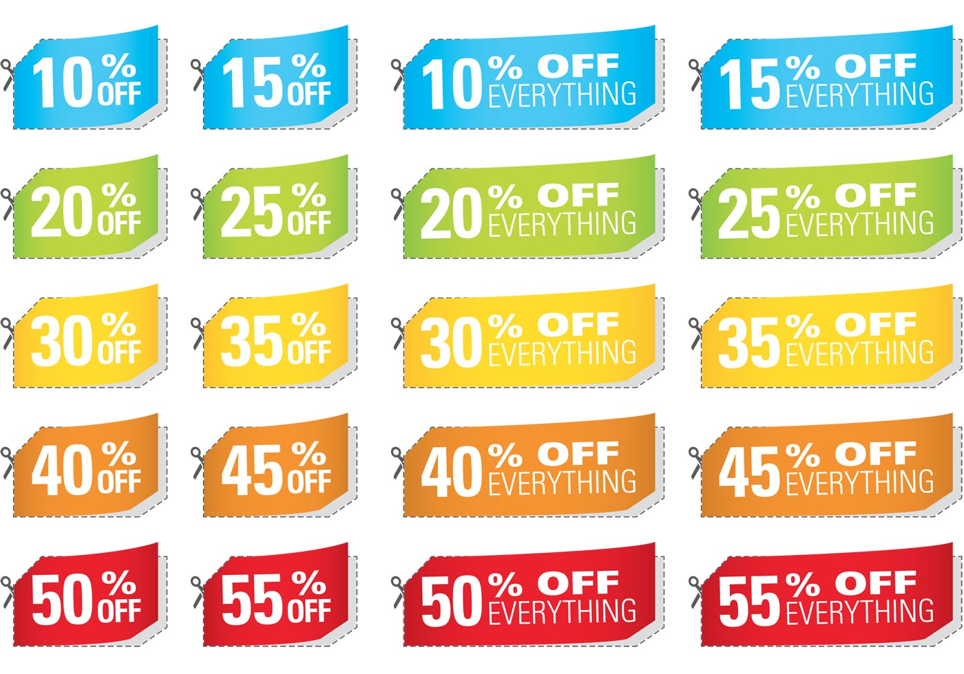 Tax cut coupons discounts