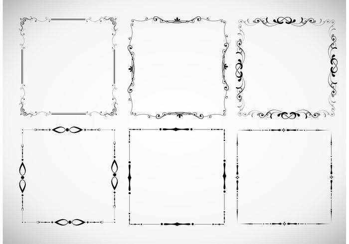 Floral Frame Vector Set