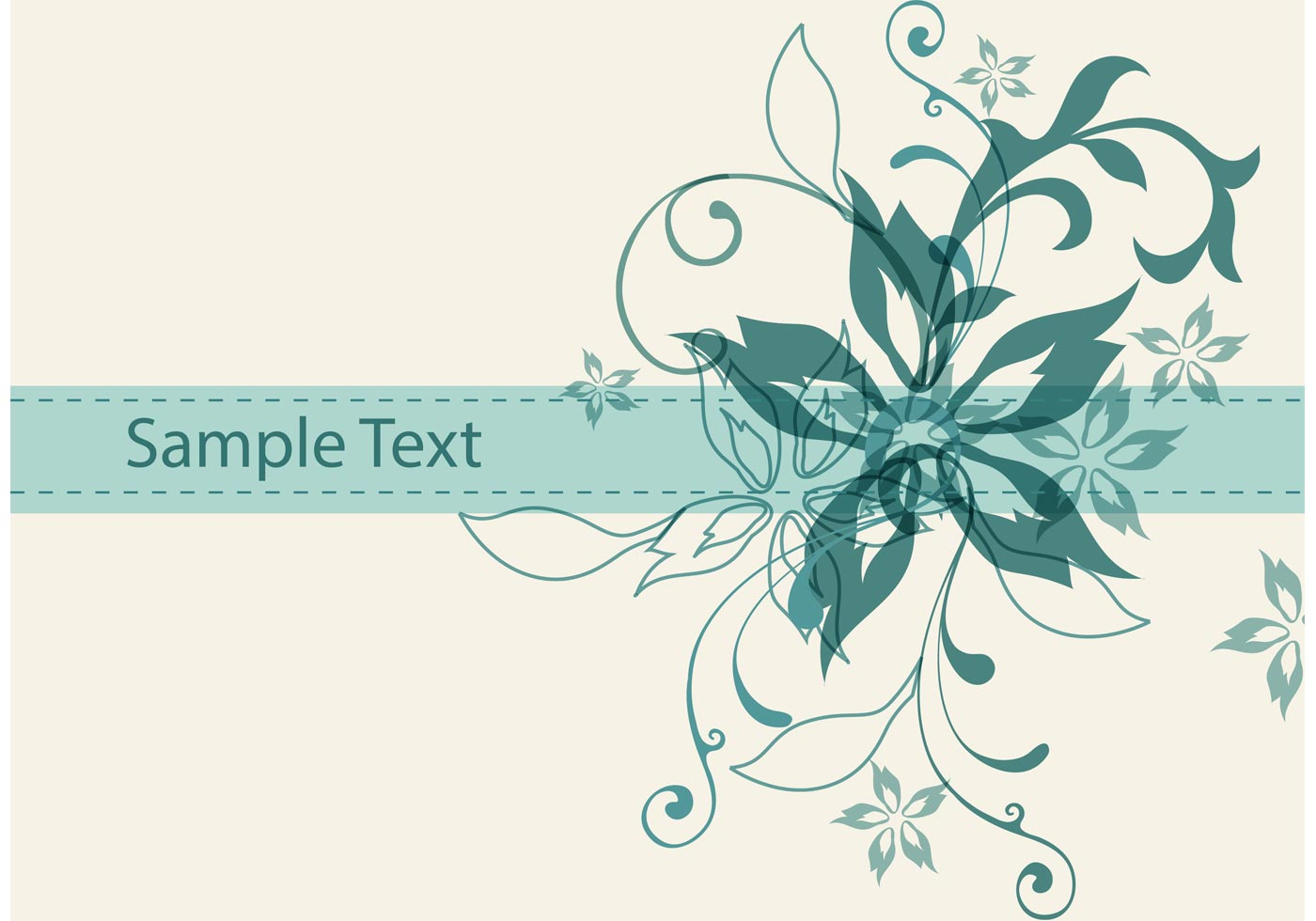 Vintage Floral Vector Background - Download Free Vector ...