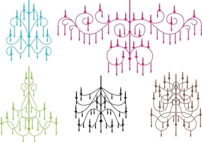 Crystal Chandelier Vectors